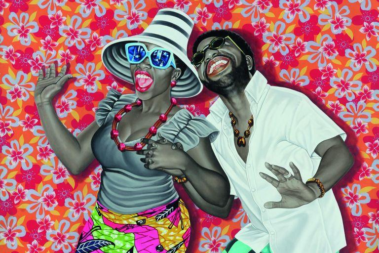 visite privée de l'expo art afrique fondation cartier