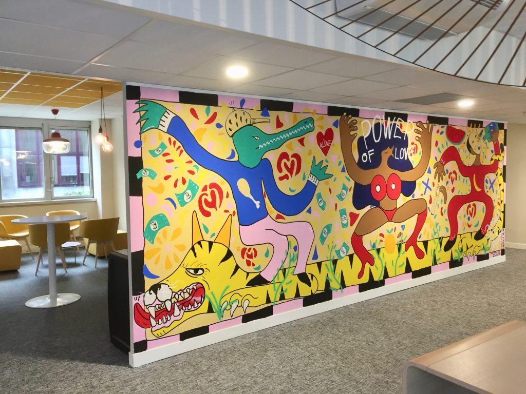Fresque dans des bureaux par Arts Affaires
