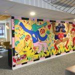 grande fresque street art dans des locaux entreprise par arts affaires