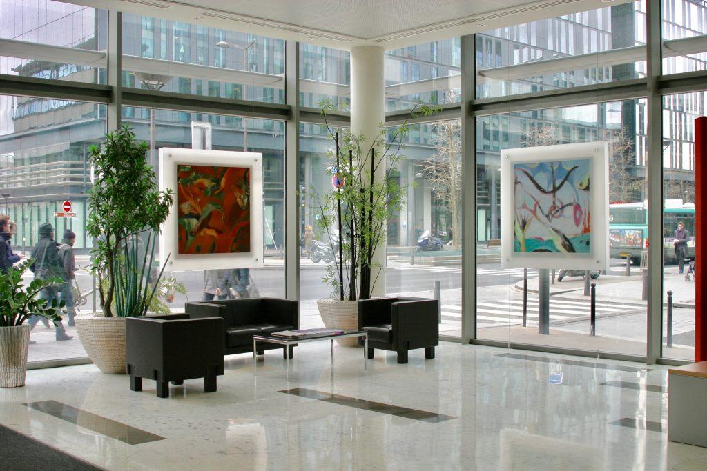 Décoration d'un hall d'accueil par Arts Affaires